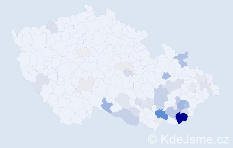 Příjmení: 'Jankůjová', počet výskytů 164 v celé ČR