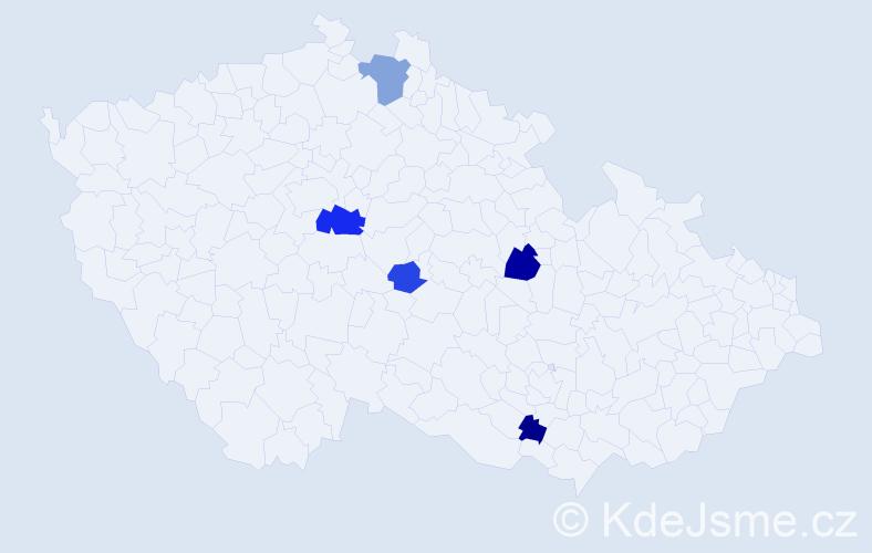 Příjmení: 'Embacher', počet výskytů 9 v celé ČR