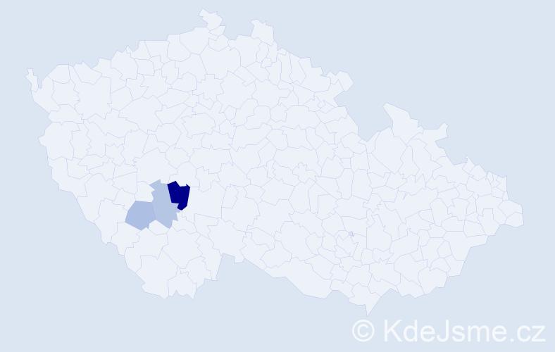 Příjmení: 'Bayernheimerová', počet výskytů 5 v celé ČR