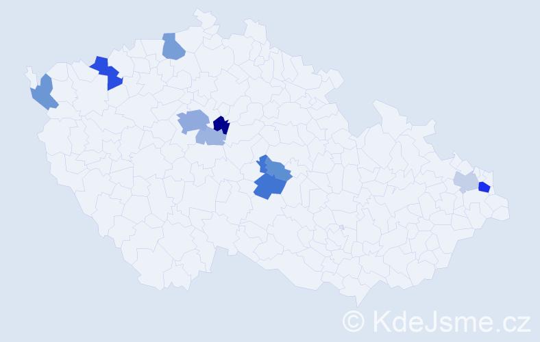 Příjmení: 'Endal', počet výskytů 37 v celé ČR