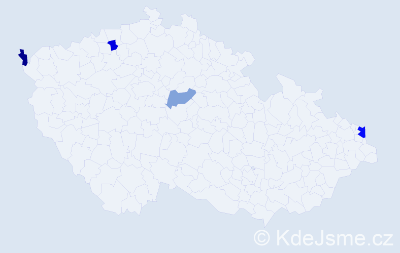 Příjmení: 'Fízer', počet výskytů 6 v celé ČR
