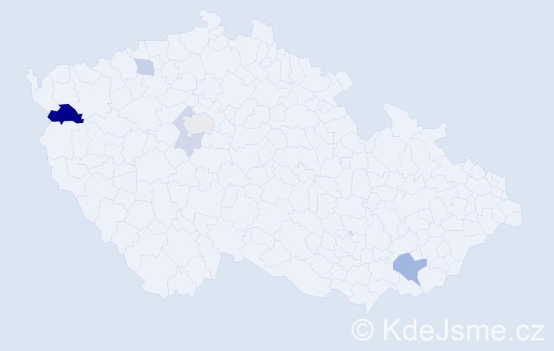 Příjmení: 'Klimko', počet výskytů 10 v celé ČR