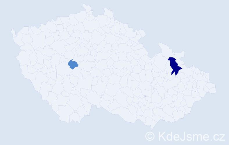 Příjmení: 'Kasprišin', počet výskytů 5 v celé ČR