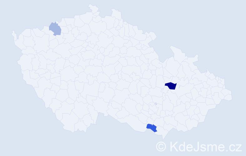 Příjmení: 'Kosenko', počet výskytů 4 v celé ČR