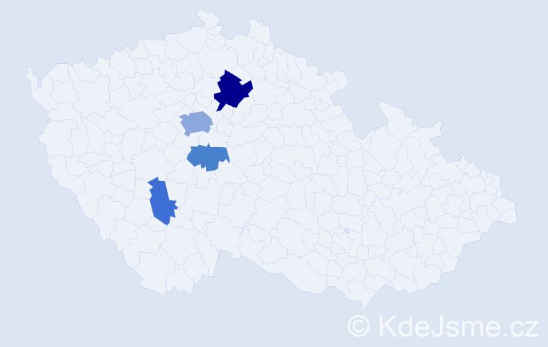 Příjmení: 'Ivanenko', počet výskytů 10 v celé ČR