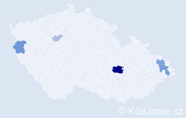 Příjmení: 'Kiovský', počet výskytů 12 v celé ČR