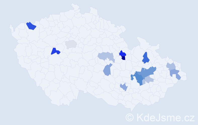 Příjmení: 'Balcařík', počet výskytů 33 v celé ČR