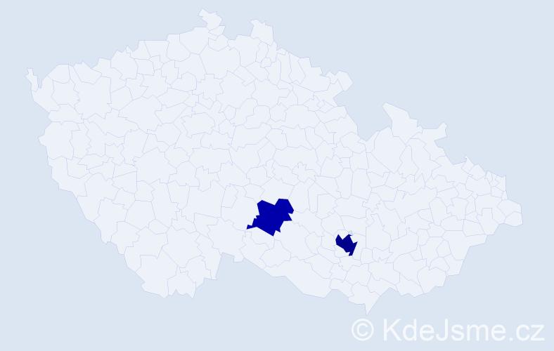 Příjmení: 'Kelpenčevová', počet výskytů 4 v celé ČR