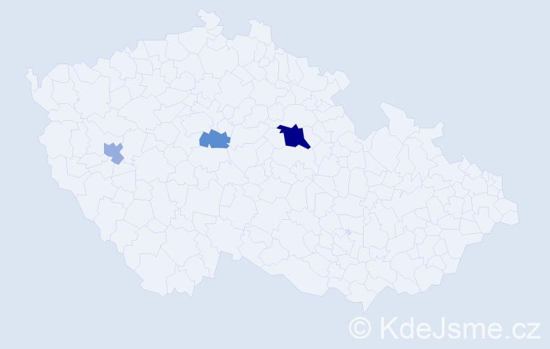 Příjmení: 'Demjančuk', počet výskytů 6 v celé ČR