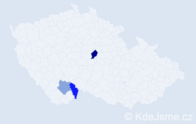 Příjmení: 'Ďucha', počet výskytů 11 v celé ČR