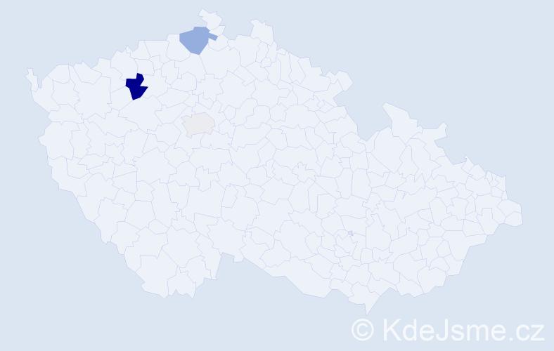 Příjmení: 'Kirillov', počet výskytů 7 v celé ČR