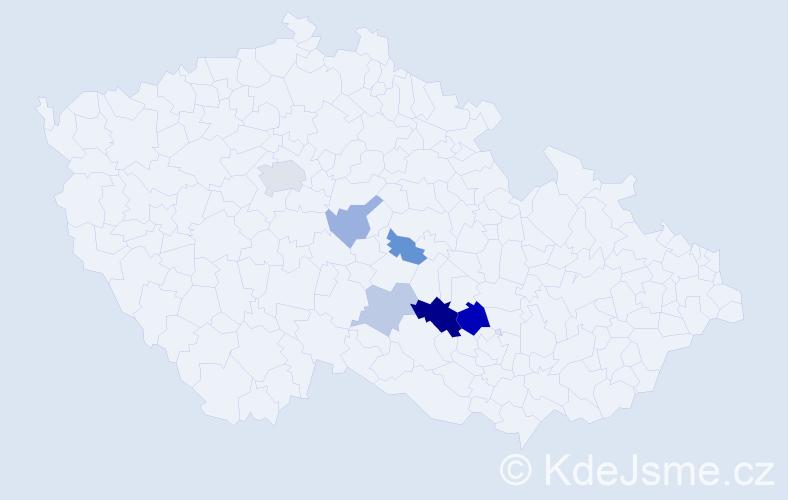 Příjmení: 'Datínská', počet výskytů 13 v celé ČR