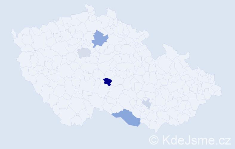 Příjmení: 'Andrejeva', počet výskytů 6 v celé ČR