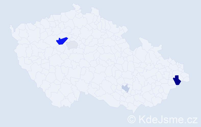 Příjmení: 'Gavrilov', počet výskytů 6 v celé ČR