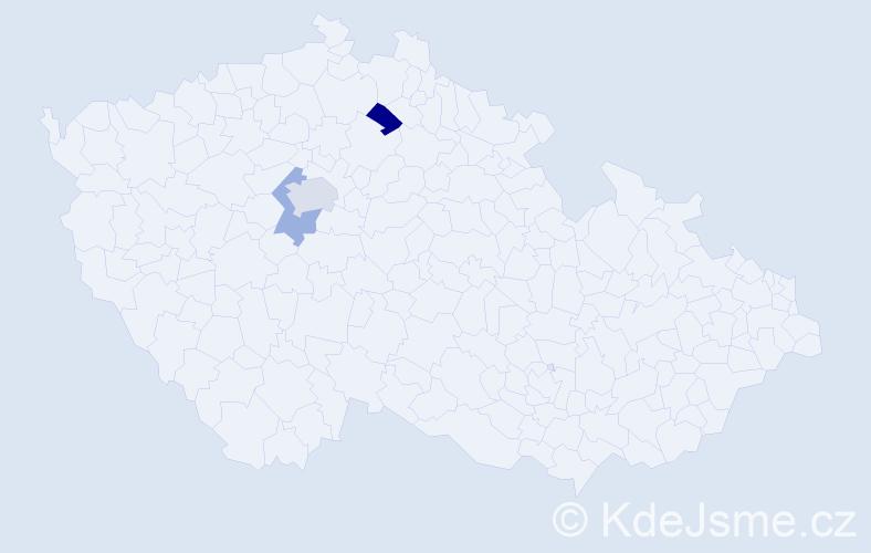 Příjmení: 'Ficenz', počet výskytů 4 v celé ČR