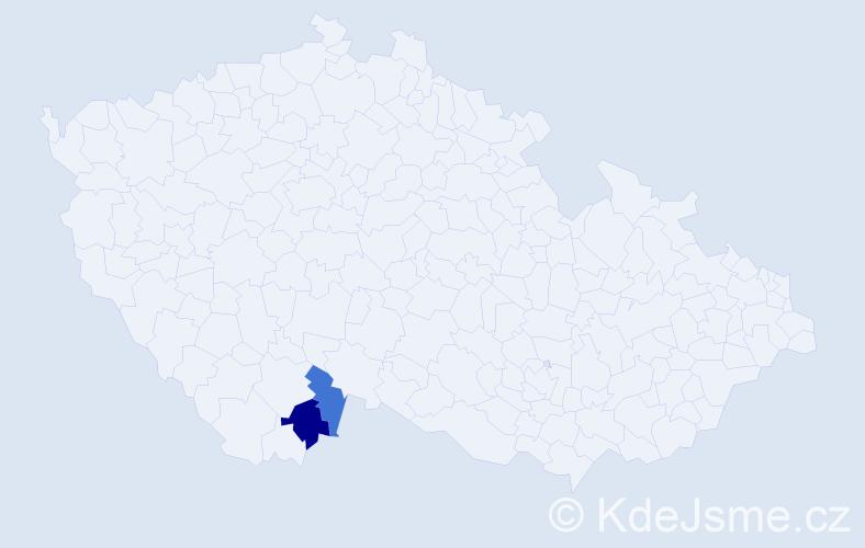 Příjmení: 'Jezvík', počet výskytů 14 v celé ČR