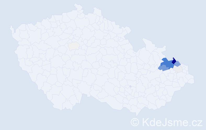 Příjmení: 'Hollesch', počet výskytů 59 v celé ČR