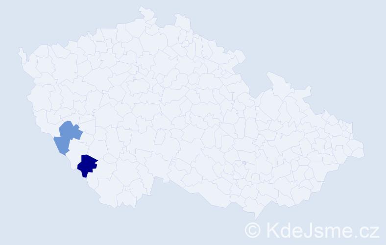 Příjmení: 'Altenstrasserová', počet výskytů 4 v celé ČR