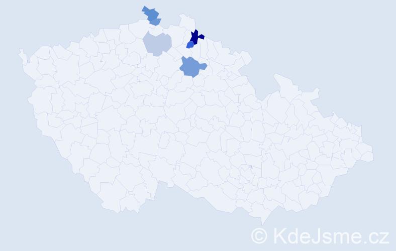 Příjmení: 'Calvittiová', počet výskytů 10 v celé ČR