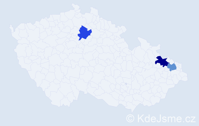 Příjmení: 'Januške', počet výskytů 8 v celé ČR