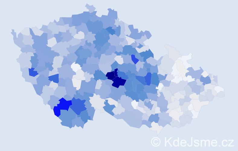 Příjmení: 'Bárta', počet výskytů 4771 v celé ČR