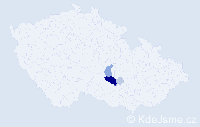 Příjmení: 'Bublánová', počet výskytů 16 v celé ČR