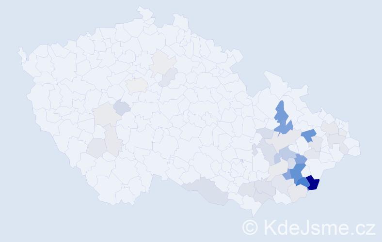 Příjmení: 'Hnilová', počet výskytů 120 v celé ČR