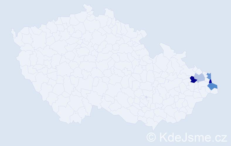 Příjmení: 'Dalová', počet výskytů 5 v celé ČR