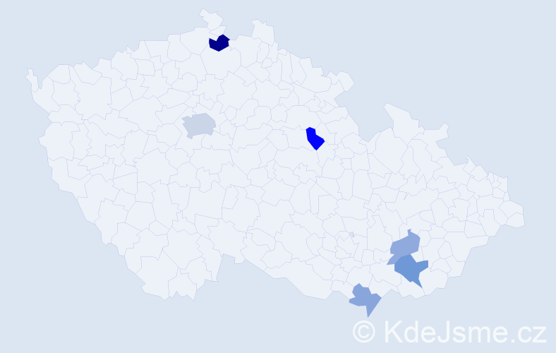 Příjmení: 'Barber', počet výskytů 11 v celé ČR