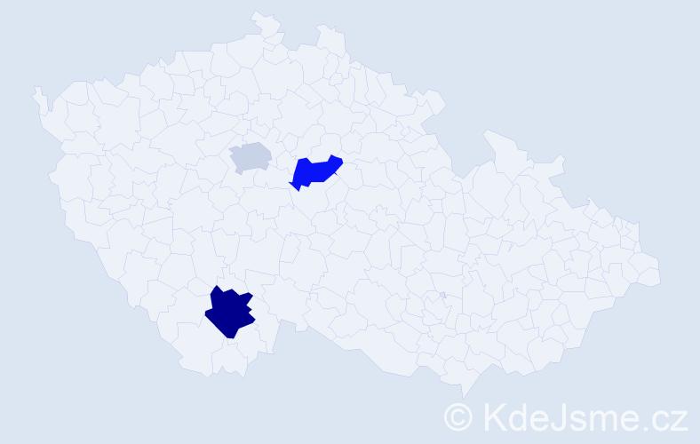 Příjmení: 'Látečková', počet výskytů 4 v celé ČR