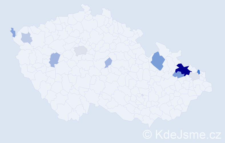 Příjmení: 'Heiserová', počet výskytů 46 v celé ČR