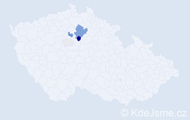 Příjmení: 'Čerepušťáková', počet výskytů 6 v celé ČR