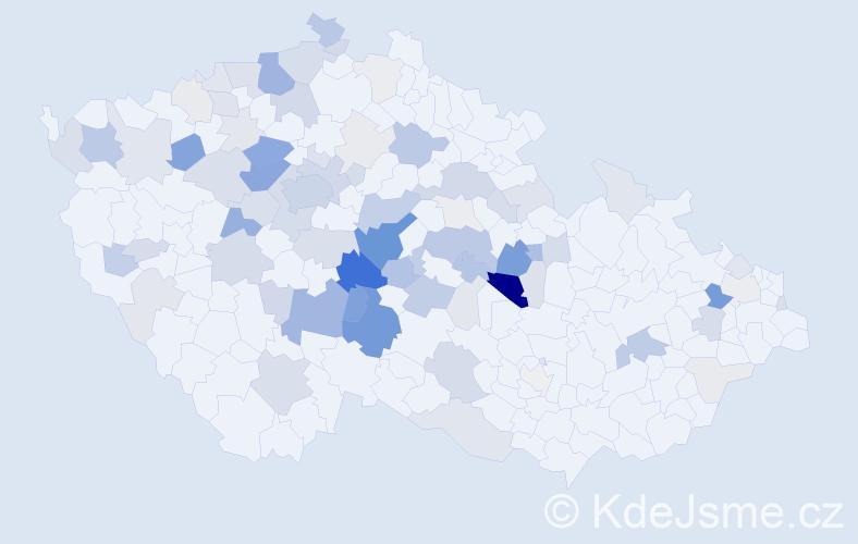 Příjmení: 'Lapáček', počet výskytů 268 v celé ČR