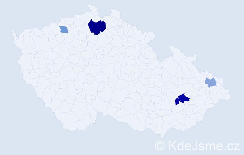 Příjmení: 'Janušík', počet výskytů 9 v celé ČR