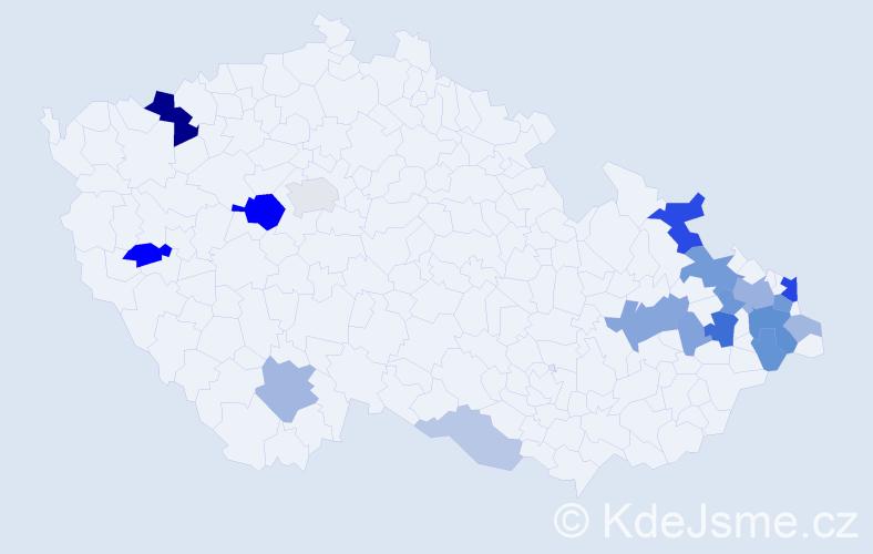 Příjmení: 'Chrapek', počet výskytů 49 v celé ČR