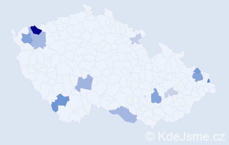 Příjmení: 'Ďurian', počet výskytů 33 v celé ČR