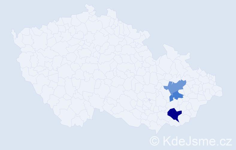 Příjmení: 'Charbutová', počet výskytů 4 v celé ČR
