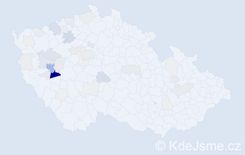 Příjmení: 'Kotora', počet výskytů 143 v celé ČR
