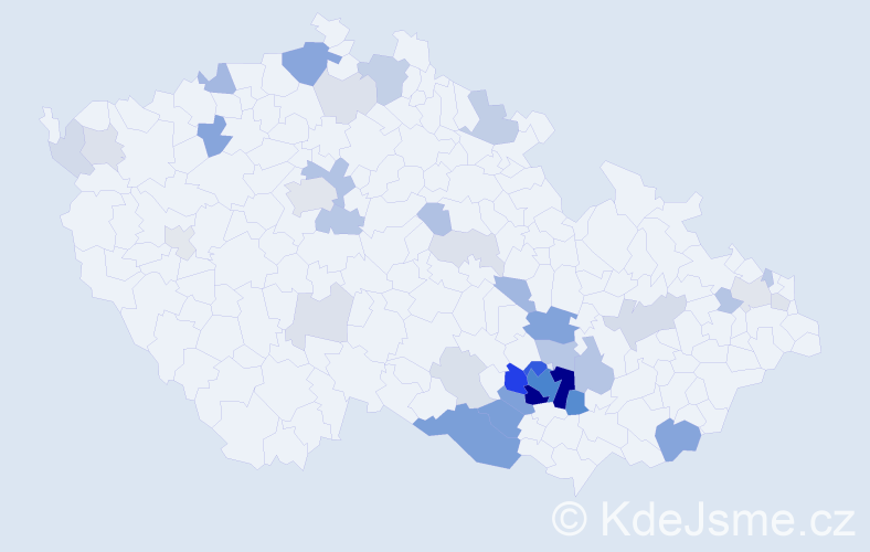 Příjmení: 'Audyová', počet výskytů 133 v celé ČR