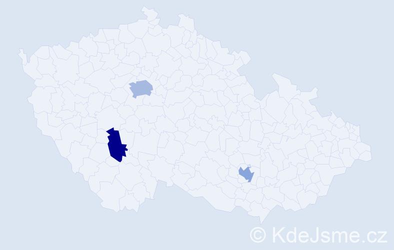 Příjmení: 'Iványi', počet výskytů 4 v celé ČR