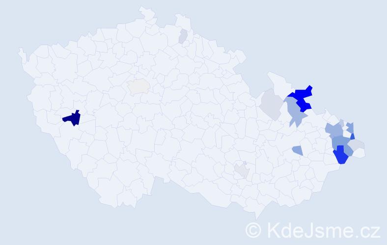 Příjmení: 'Ledvoň', počet výskytů 62 v celé ČR