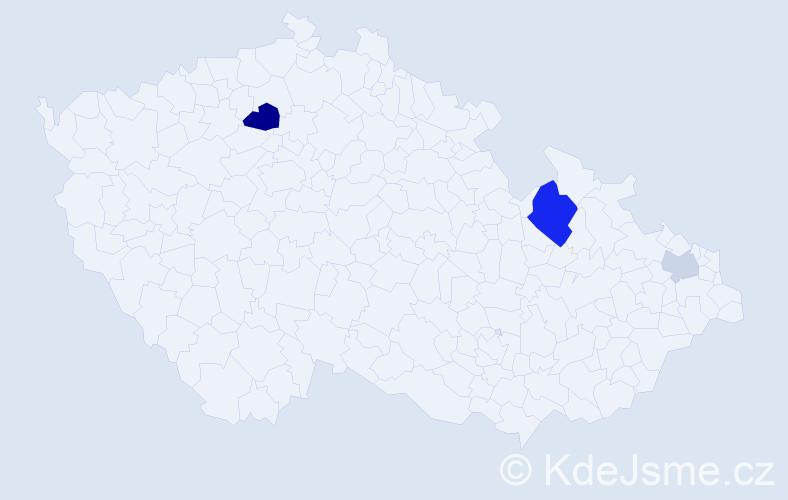 Příjmení: 'Čopková', počet výskytů 6 v celé ČR
