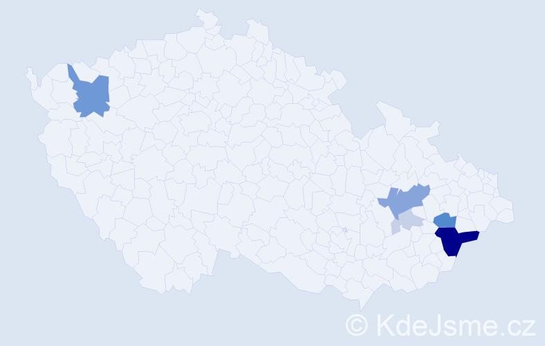 Příjmení: 'Batla', počet výskytů 22 v celé ČR
