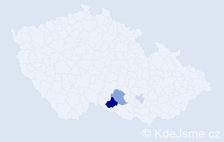 Příjmení: 'Kasárníková', počet výskytů 7 v celé ČR