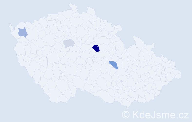 Příjmení: 'Hergl', počet výskytů 14 v celé ČR