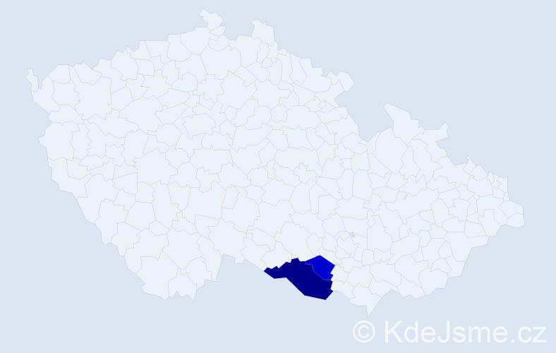 Příjmení: 'Hlusková', počet výskytů 5 v celé ČR
