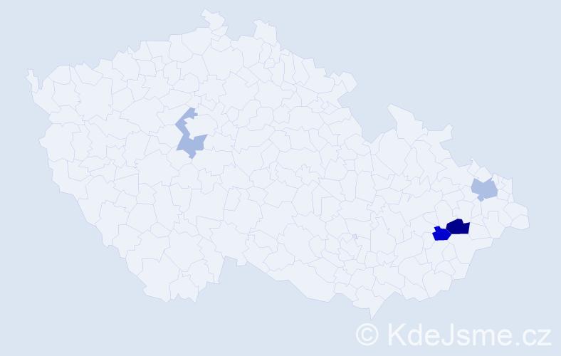 Příjmení: 'Ballner', počet výskytů 7 v celé ČR