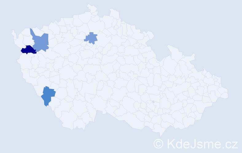 Příjmení: 'Gersdorf', počet výskytů 6 v celé ČR
