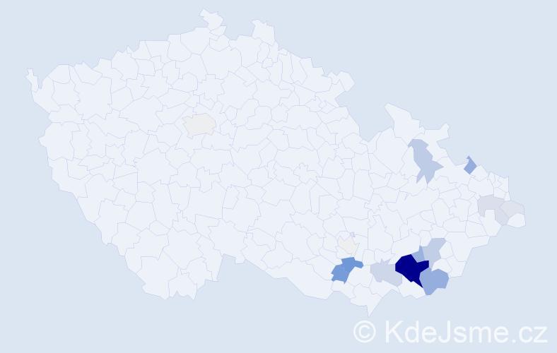 Příjmení: 'Bilavčík', počet výskytů 71 v celé ČR