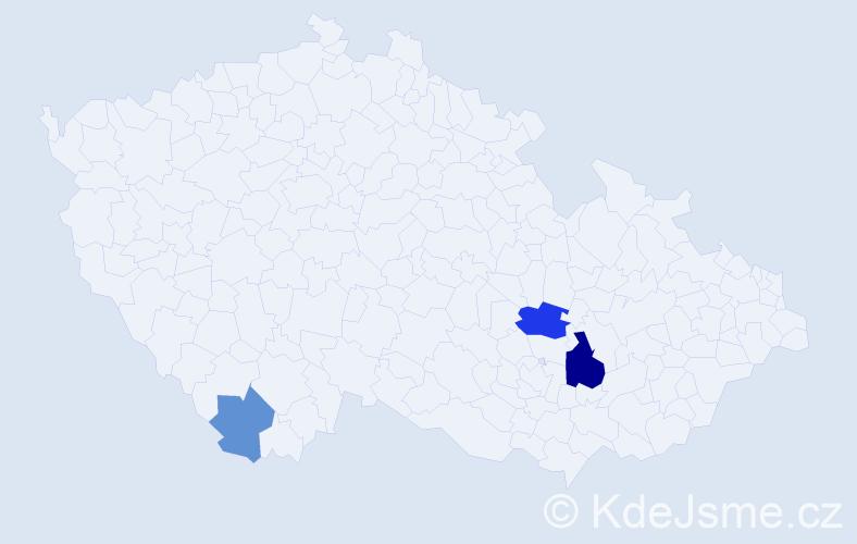 Příjmení: 'Umshausová', počet výskytů 6 v celé ČR